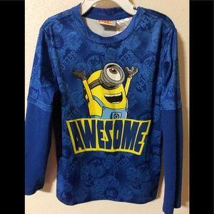 🍭Despicable Me Long Sleeve Shirt Boy size 6-7